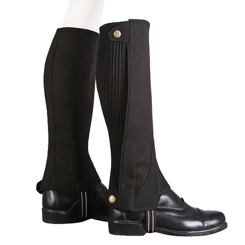 Microfiber Equestrian Gaiter Half Chaps Durable Horse Riding Boots Cover Adult Children Leg Guard Leggings Equitation Equipment