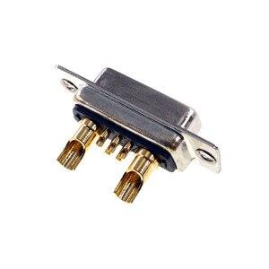 Image 5 - D conector Sub 30 AMP Actual 7 posición 5 + 2 Combo receptáculo hembra clavija mecanizada 7W2 oro montaje en Panel de alambre de soldadura