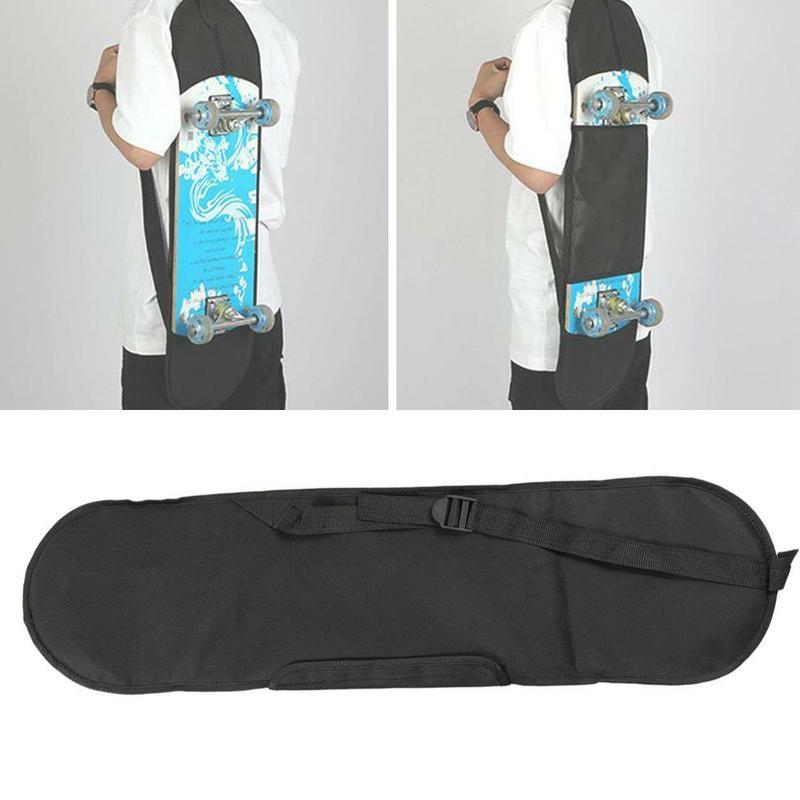 Black Skateboard Backpack Carry Bag Adult Skateboard Deck Backpack Outdoor Durable Backpack Skateboard Accessories 82.5x23cm