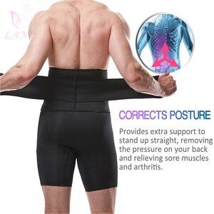 Image 5 - LANFEI Mens Thermo Neoprene Body Shaper Waist Trainer Belt Slimming Corset Waist Support Sweat Cinchers Underwear Modeling Strap