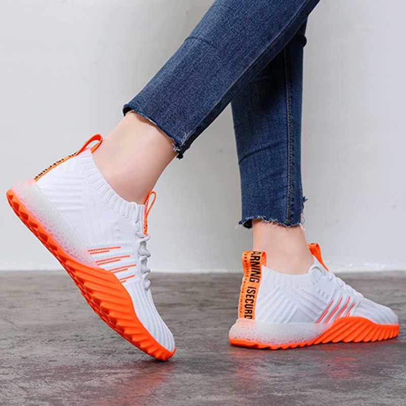 ร้อนแพลตฟอร์มถุงเท้าผู้หญิงสีดำสีส้มสีเขียวสีขาวรองเท้าผ้าใบ รองเท้า สีสันสบายๆรองเท้า FM-A22