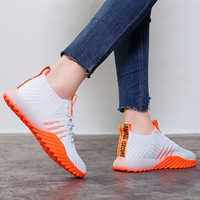 2019 Platform Sock Women Black Orange Green Off White Sneakers Chunky Shoes Mesh Tenis Feminino Trainers Casual Shoes FM-A22