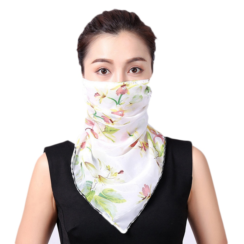 2020 Women Anti Dust Mask Windproof Prevent Safe Mouth Face Mask Women Sun Protection Print Scarf Dustproof Neck Scarf