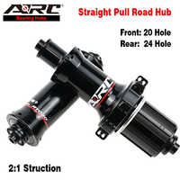 ARC Hot Sale Super Light Road Bike Bicycle Hub Straight Pull Road Hub Front 20 Hole Rear 24 Hole Aluminum Bicycle Hub Bike Hub