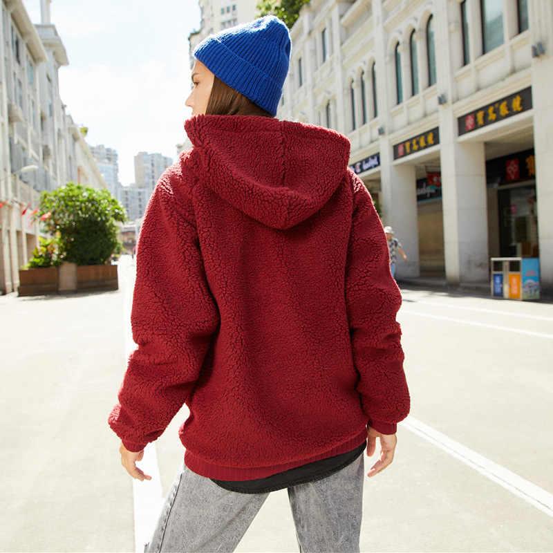 품질 따뜻한 남자 후드 티 스웨터 가을 겨울 모직 패션 솔리드 컬러 망 후드 남성 캐주얼 빅 포켓 스웨터
