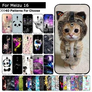 Перейти на Алиэкспресс и купить Чехлы для телефонов Meizu 16T, силиконовый мягкий чехол с котом для Meizu 16, чехол для Meizu 16 Plus, Fundas Capas из ТПУ