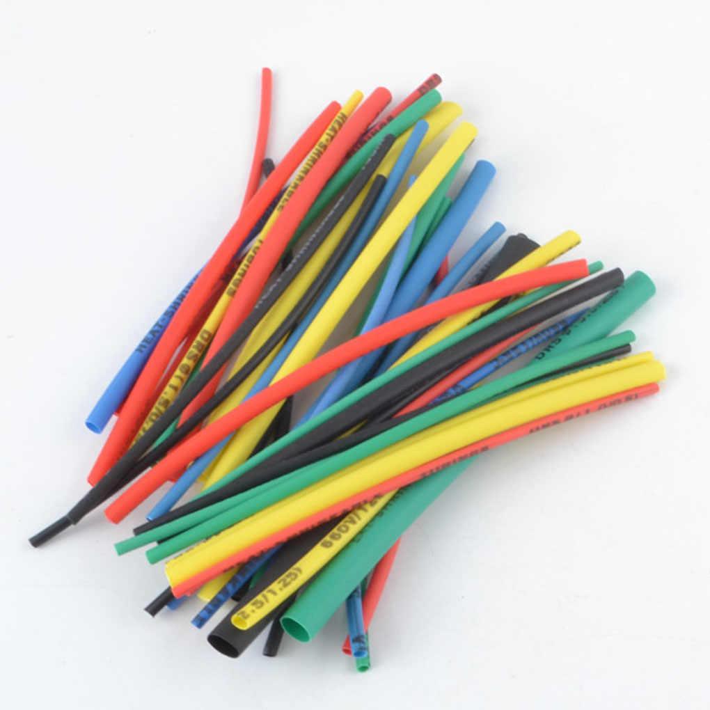 100/127/140/164/328/530 adet çeşitli poliolefin ısıyla daralan kablo ucu boru boru kablo kollu sarma tel seti karışık renk/siyah
