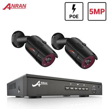 ANRAN IP Camera Security System 2CH DVR Kit Security Camera 5MP HD Video Surveillance Kit Surveillance Camera CCTV System IP66 2ch input card dvr for cctv camera
