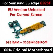 Per Samsung Galaxy S6 bordo G925F 32GB 64GB Scheda Madre Del Telefono Sbloccare Tutta La Scheda Madre Con Il Pieno di Chip IMEI Ufficiale OS Scheda Logica