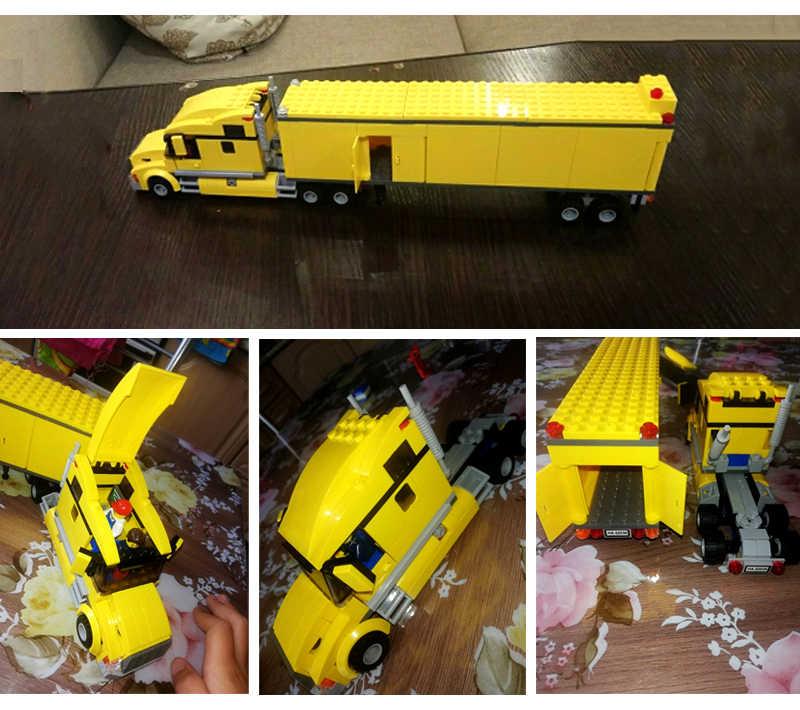 02078 02036 Città Pickup Truck Caravan Città Stazione Degli Autobus Blocchi di Costruzione Aeroporto di Mattoni per bambini Giocattoli Compatibile Legoed 3221 60154