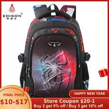 Edison New School Bag Children Backpack Boy Girl School Backpack Miracle Series Cartoon Student Bag 3D Printing Offload Backpack(China)