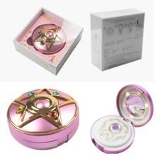 Сейлор Мун Кристалл луна светильник медальон-звезда компактный внешний аккумулятор портативное зарядное устройство светильник косметическое зеркало Косплей Опора+ подарочная коробка