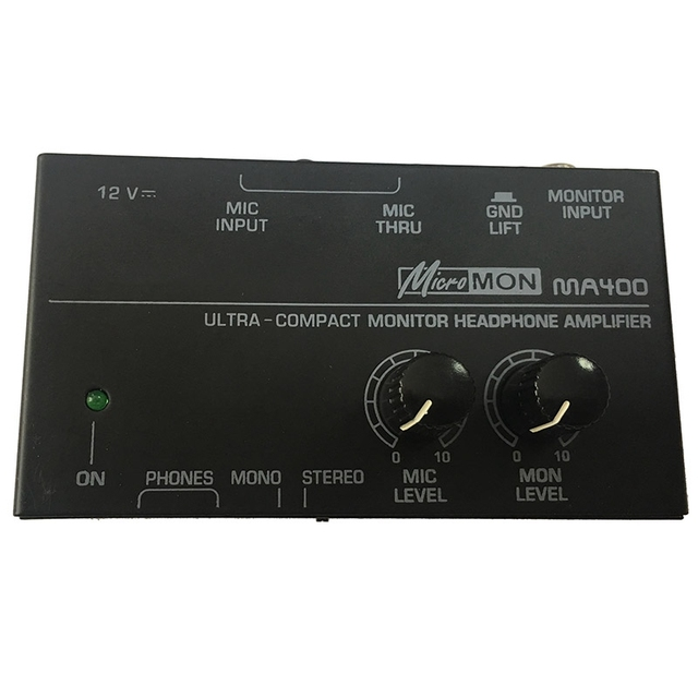 FULL-Ma400 Headphone Preamplifier Microphone Preamplifier Headphone Preamplifier Personal Monitor Mixer,Eu Plug