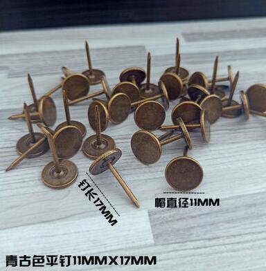 100 шт металлические кнопки, декоративные Thumbtacks, античный штырь, гвоздь, круглая форма, нажимные штыри для большого пальца, настенные Пробковые доски для офиса - Цвет: K