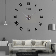 Modern Design Wall Clock Watch Clocks Large Digital 3D Diy Acrylic Mirror Stickers Home Decoration Quartz Needle Europe Horloge