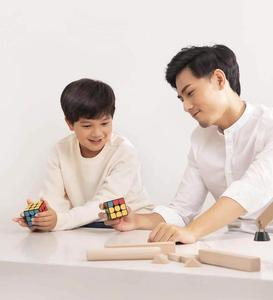 Image 2 - Oryginalny XIAOMI Bluetooth magiczna kostka inteligentne połączenie bramy 3x3x3 kwadratowa magnetyczna kostka łamigłówka edukacja naukowa zabawka prezent