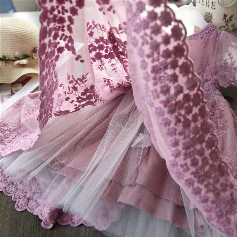 H97c50aa8eb274ba09cc6a0487f6317d1G Girls Dresses 2019 Fashion Girl Dress Lace Floral Design Baby Girls Dress Kids Dresses For Girls Casual Wear Children Clothing