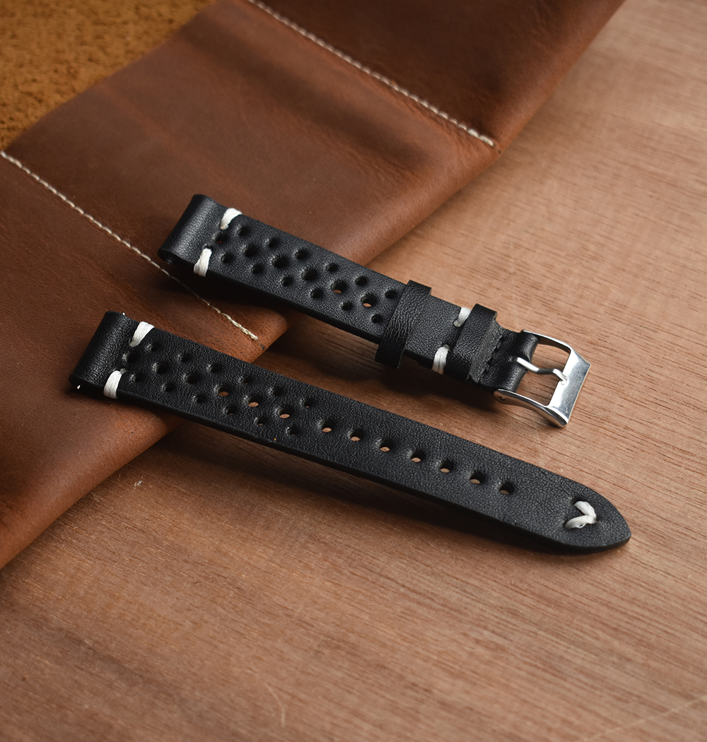 Onthelevel Leather Watch Strap 18mm 19mm  20mm 22mm Watch Band Bracelet Porous Watchbands Mens Wristwatches Band # D