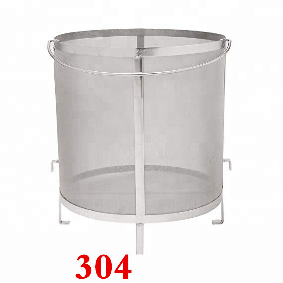 304 Stainless Steel Beer Wine House Home Brew Filter Basket Strainer Barware Bar Tools Filter Bag for Jelly Jams Homebrew Barrel(China)