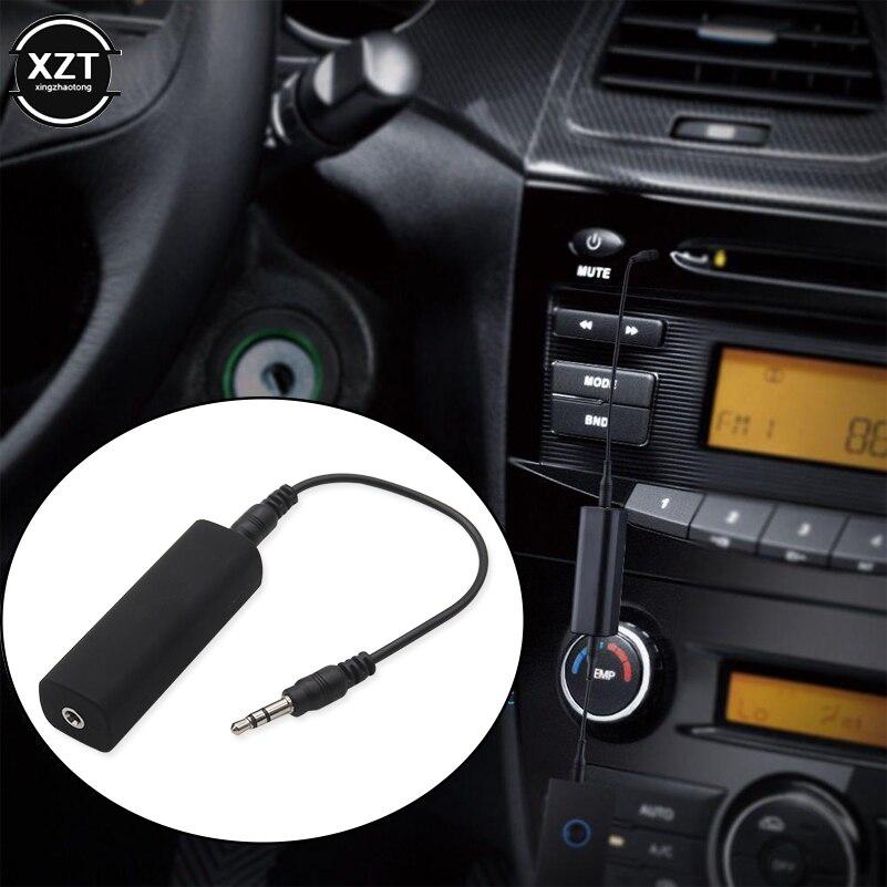 3.5mm cabo de áudio anti-interferência isolamento de ruído de loop à terra cancelando redutor filtro assassino para áudio do carro sistema estéreo casa