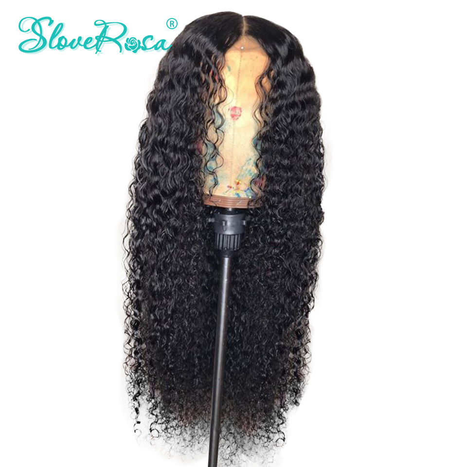 Curly Brazilian Lace Front Human Hair Wigs With Baby Hair Remy With Baby Hair Bleached Knots