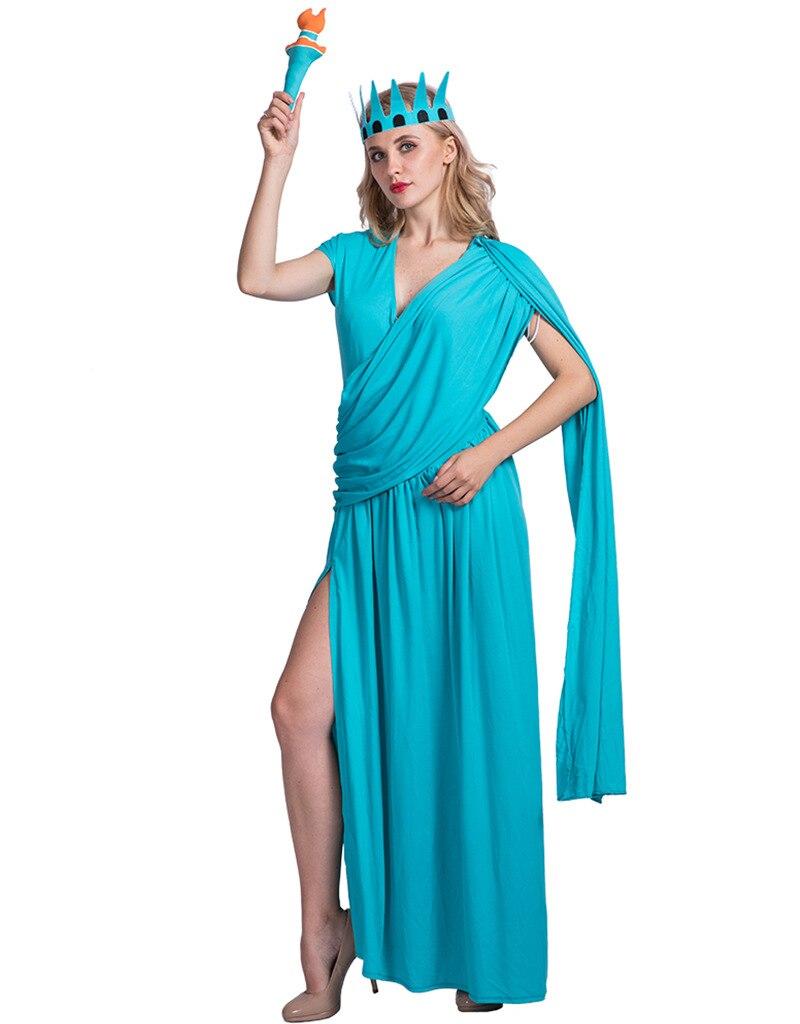 Liberty Girl Costume Halloween Fancy Dress