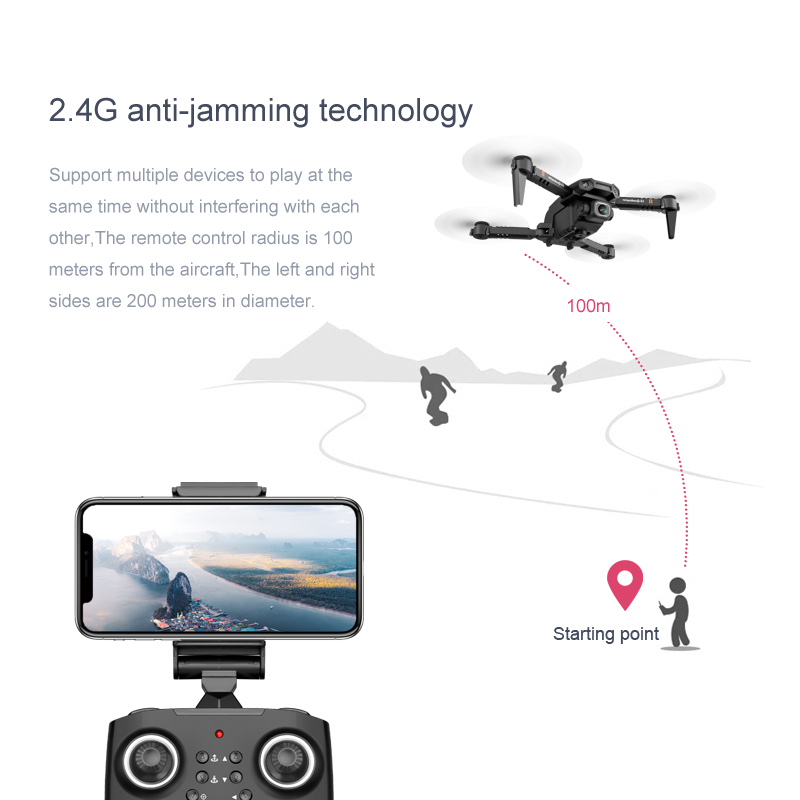 New Drone 4k Double Camera HD XT6 WIFI FPV Drone Air Pressure Fixed Height four-axis Aircraft RC Helicopter With Camera 2