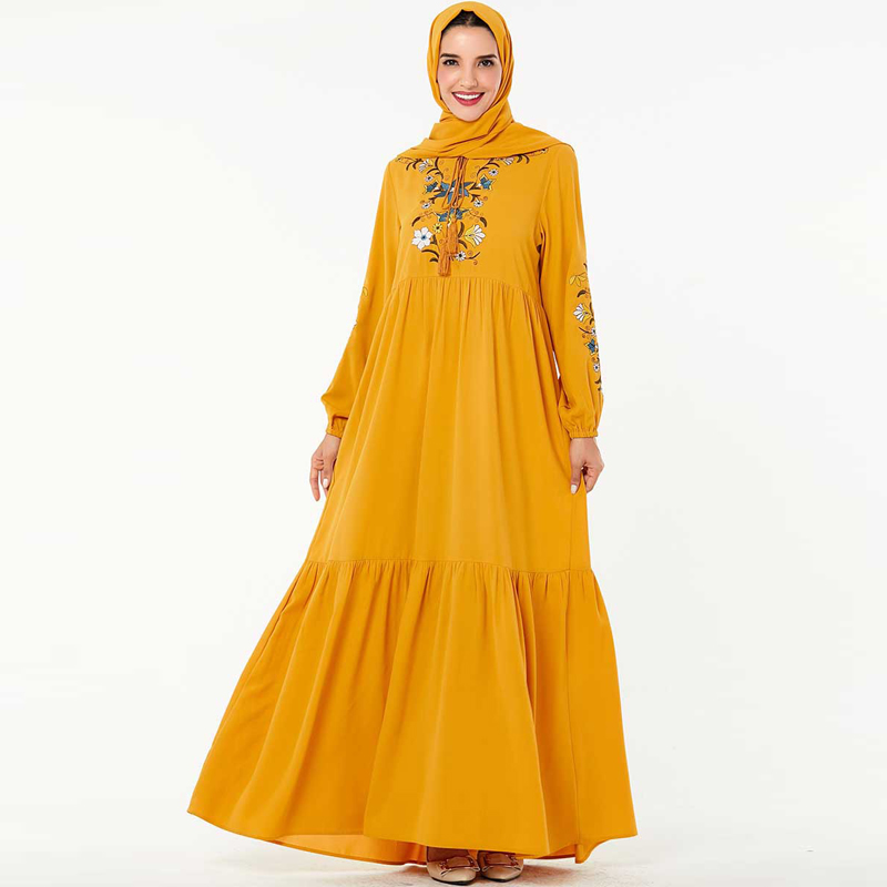 Abaya Islamic Hijab Muslim Dress Dubai Arabic Kaftan Dress Tesettur Elbise Turkey Robe Musulmane Longue Arabe Caftan Vestidos