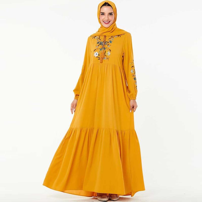 Abaya Islamic Hijab Muslim Dress Dubai Arabic Kaftan Dress Tesettur Elbise Turkey Robe Musulmane Longue Arabe Caftan Vestidos