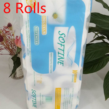 8 pcs Three Layer Toilet Tissue Home Bath Toilet Roll Paper Silky Smooth Soft Toilet Paper Skin-friendly Paper Towels New 2020 1