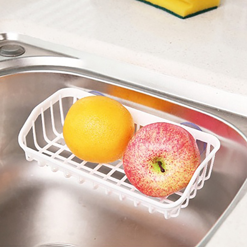 Kitchen Sink Sponge Holder, Sink Shelf Soap Sponge Drain Rack Holder Storage Suction Rack Environmentally Friendly And Odorless