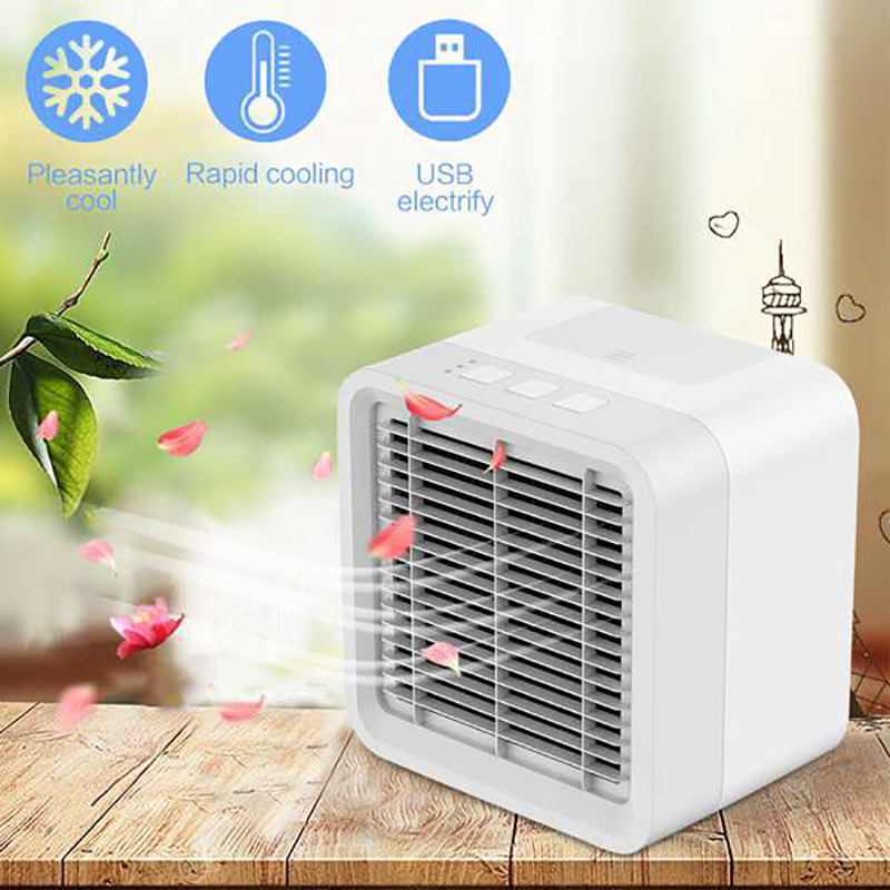 Promotion-USB Rechargeable Air Conditioner Air Cooler FanPortable Mini Cooling Fan For Home Office Ventilador Air Humidifier