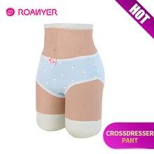 Roanyer เกย์ซิลิโคนประดิษฐ์ penetrable ปลอมช่องคลอดชุดชั้นในสะโพกกางเกง Transgender Shemale Drag Queen crossdressing