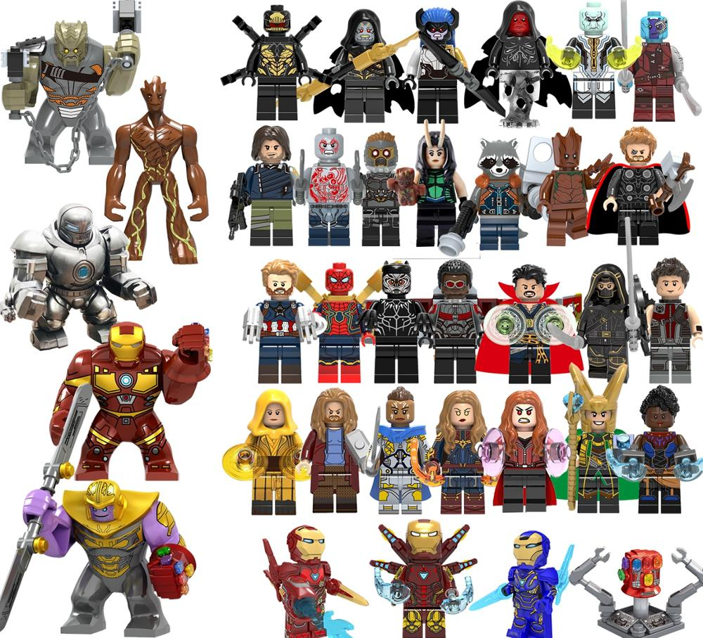 Super Hero Building Block Avengers 4 Thor War Machine MK85 Captain America MK50 Pepper Potts Iron Man For Kids Toy   KT1026