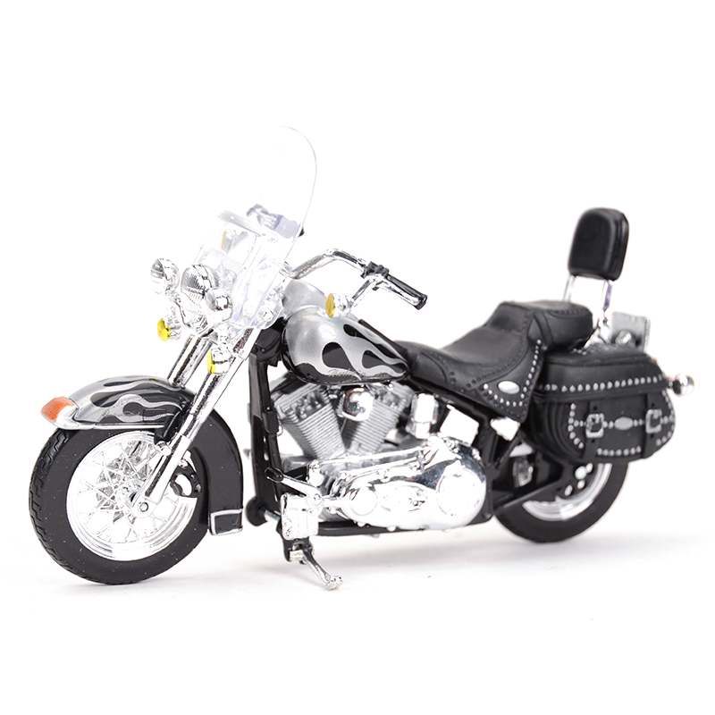 Maisto 1:18 2002 FLSTC Heritage Softail Classic Glide Diecast Alloy Motorcycle Model Toy