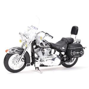 Image 1 - Maisto 1:18 2002 FLSTC miras Softail klasik kayma döküm araçları koleksiyon hobiler motosiklet Model oyuncaklar