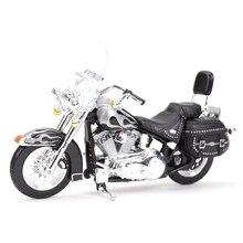 Maisto 1:18 2002 FLSTC التراث سوفتيل الكلاسيكية الإنزلاق ديكاست سبيكة نموذج دراجة نارية لعبة
