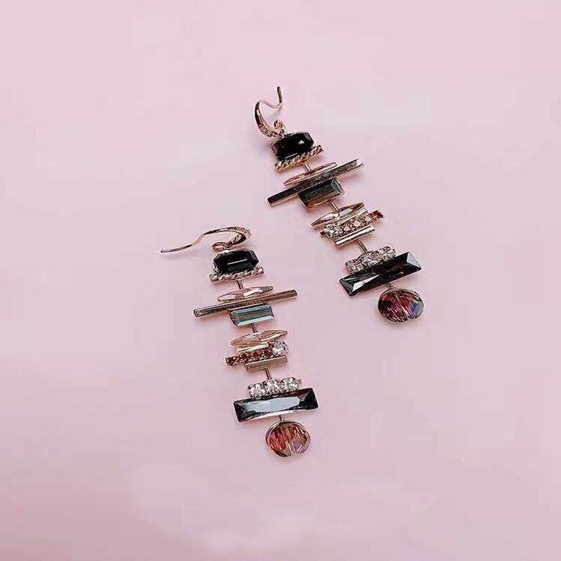 Женские Висячие серьги с кристаллами korena длинные Винтажные
