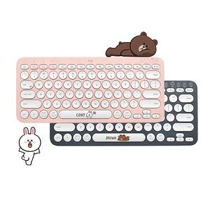 Image 2 - Logitech k380 multi dispositivo bluetooth linha de teclado sem fio amigos rosa preto multi cores windows macos android ios chrome os
