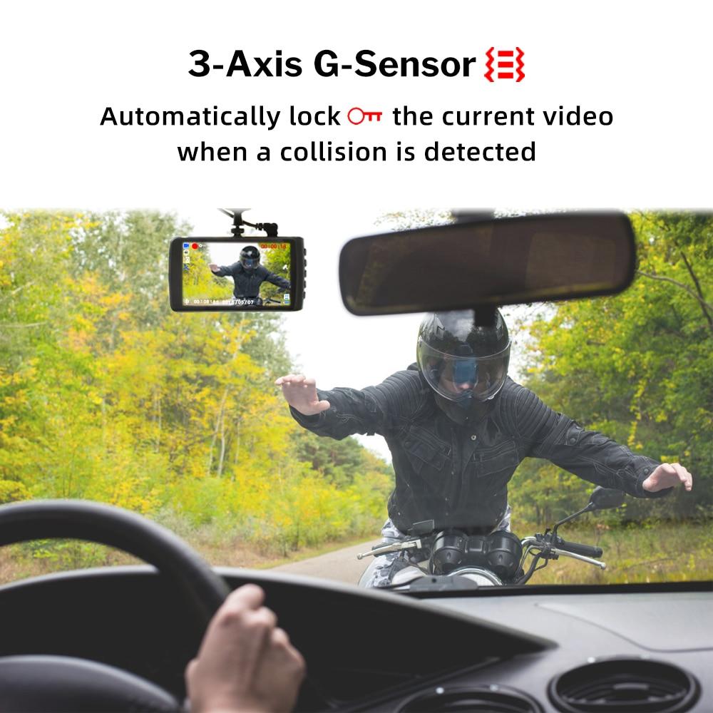 Deelife Dash Cam Car DVR Camera Full HD 1080P Drive Video Recorder Registrator Auto Dashboard 1296P Dual Dashcam Black DVRs Box 4