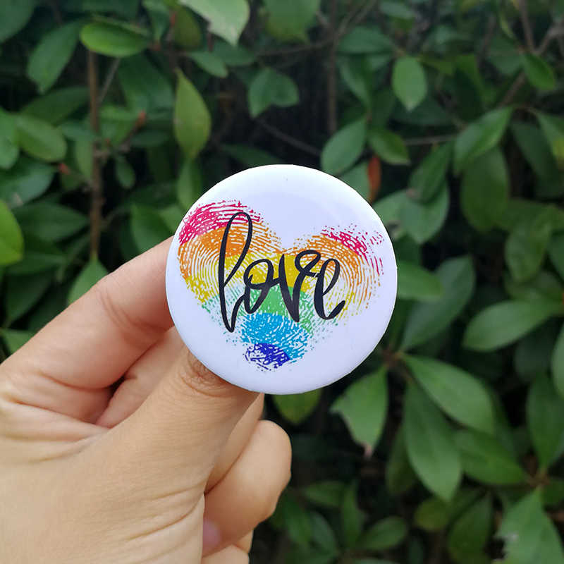 Nengdou T29 LGBT Pride Regenboog Vlag Badge Ronde Pictogrammen Gay Lesbische Biseksueel Transgender Pansexual Aseksuele Symbool Pin Rozet Broche