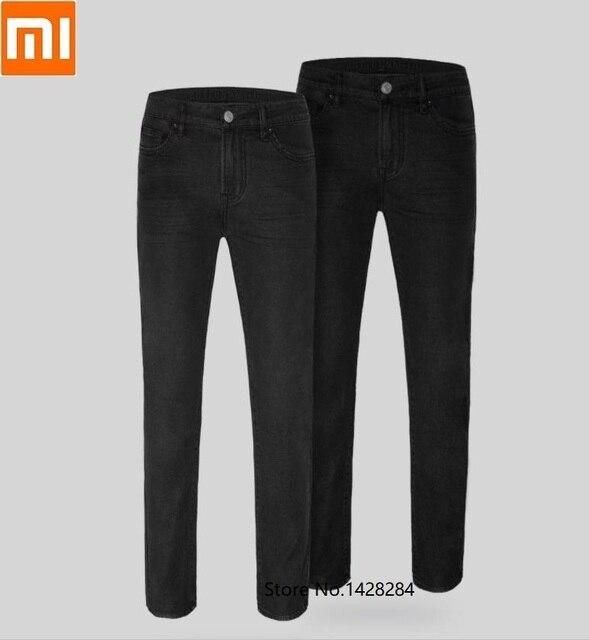 Xiaomi klasik siyah erkek kot pamuk Smith rahat ince düz kotlar streç kot pantolon bahar sonbahar erkek pantolon