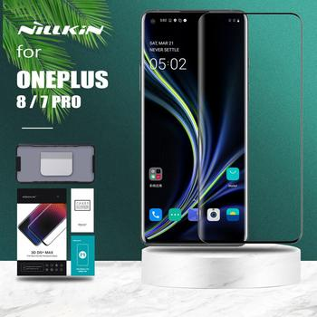 for Oneplus 8 7 Pro Glass Nillkin 3D DS+ Max Full Cover HD Tempered Glass Screen Protector Round Edge for Oneplus 8 7 Pro Glass