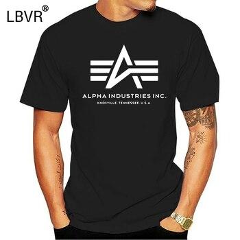 Camiseta Alpha Industries para hombre, de manga corta Camiseta de algodón, camiseta...