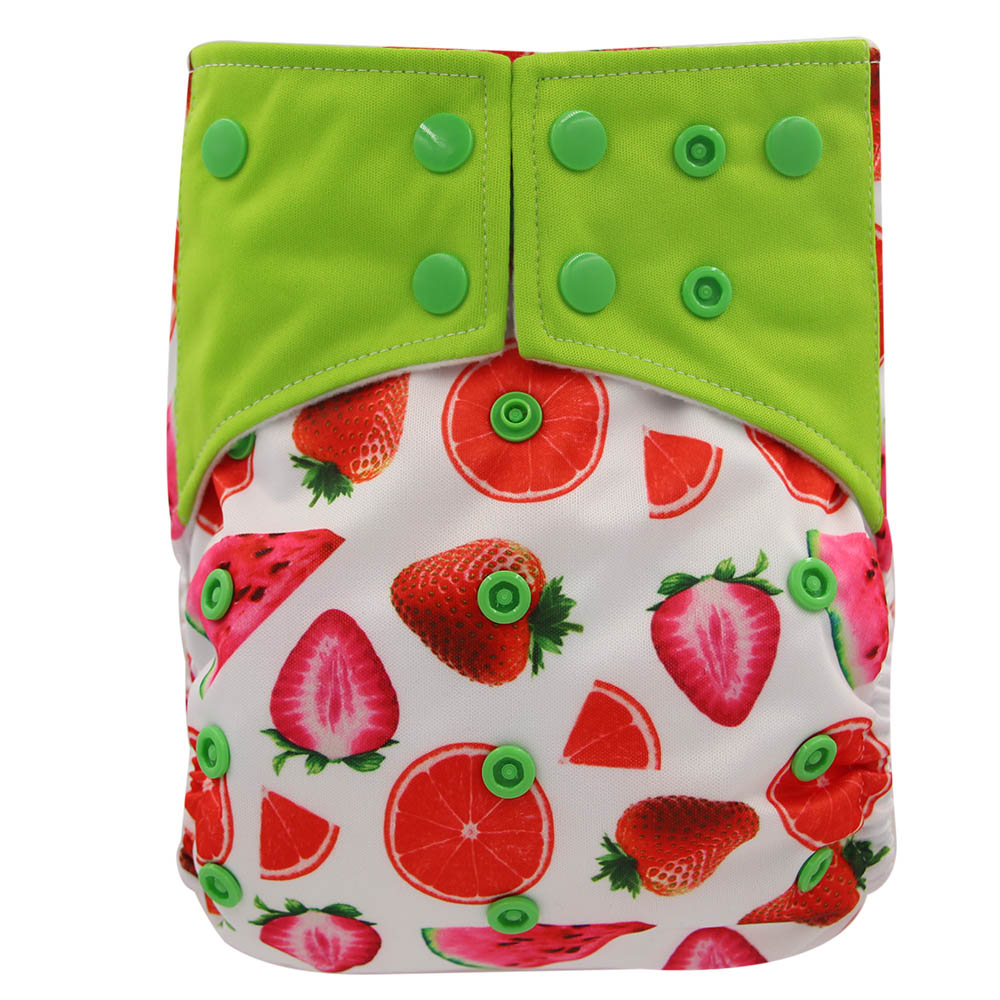 Тканевые подгузники Ohbabyka AI2 для младенцев, многоразовые подгузники, подгузники с принтом персонажа, моющиеся карманные подгузники с бамбук...