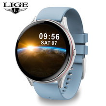LIGE 2020 Neue Full Touch Screen Smart Watch männer Frauen Herz Rate Blutdruck Für Android IOS Smartwatch uhren inteligentes(China)