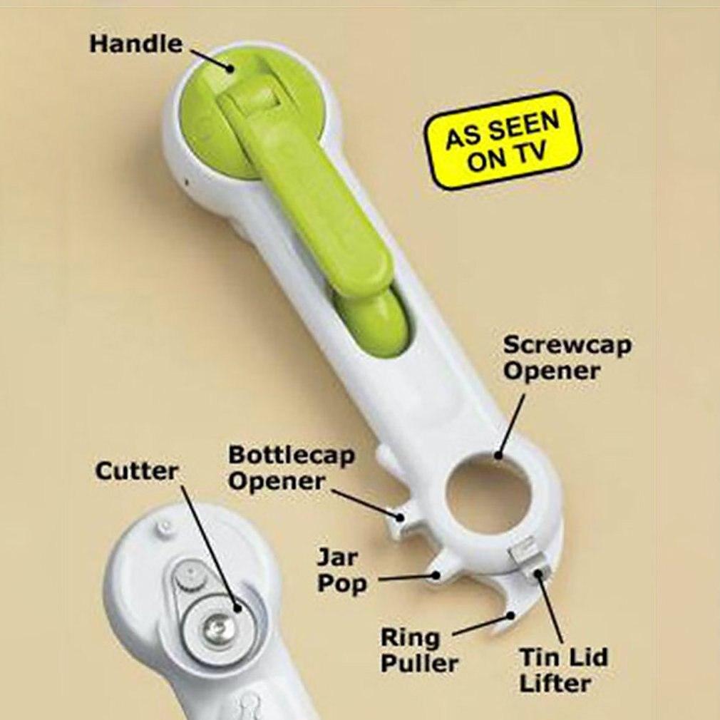 Creative Gadget Seven-In-One Multi-Purpose Bottle Opener Electric Opener Kitchen Gadget Open Bottle Artifact