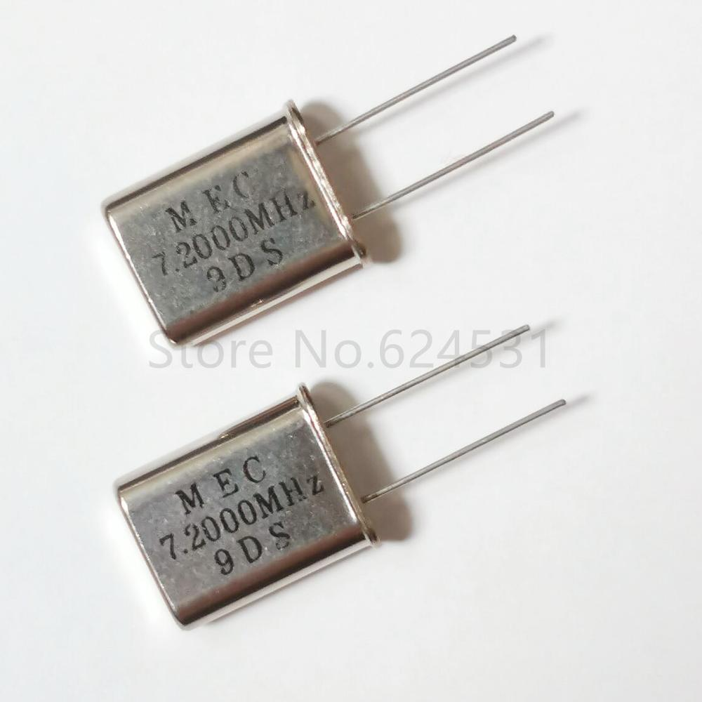 Free Shipping 10pcs Genuine HC-49U-line Passive Quartz Crystal Oscillator 7.2MHZ 7.200MHZ 7.2M