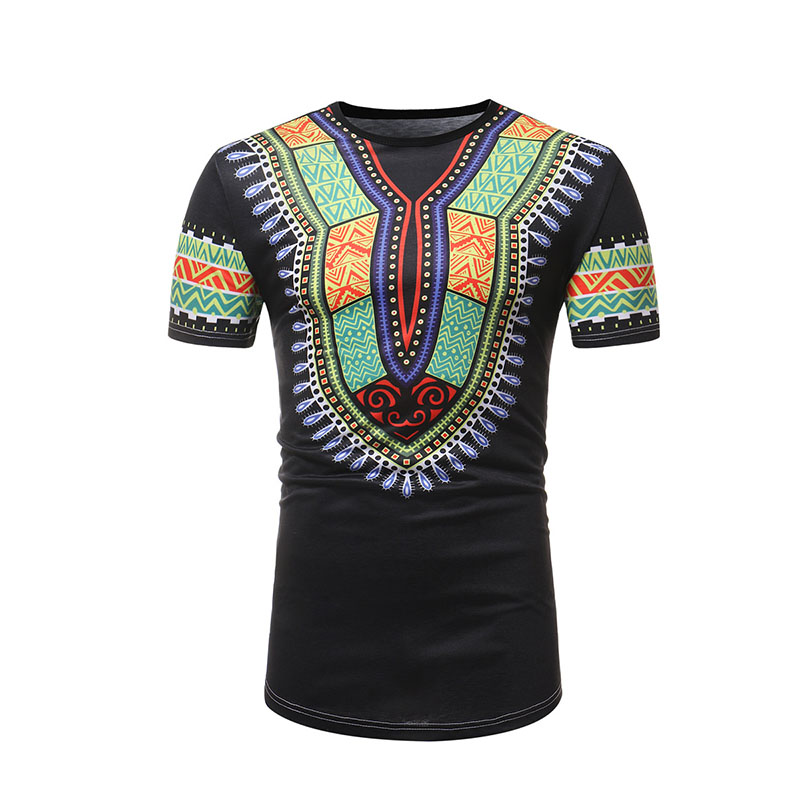 African Dashiki T Shirt Men African Clothes 2021 Summer New Slim Fit Short Sleeve African Clothing Streetwear Casual Tee Shirt
