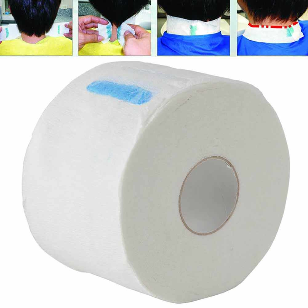 1 Roll Neck Paper Strip Hair Cutting Barber Salon Hairdressing Collar Accessory Necks Covering Disposable Haircut Collar Paper